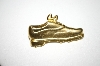 "Vintage ""JJ"" Gold Tone Shoe Pin"