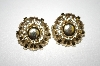 **MBA #25-378  Star Gold Tone Clip On Earrings