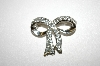 +MBA #25-363  Vintage Silver Tone Bow Pin