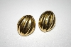 +MBA #25-359  Vintage Gold Tone Pierced Earrings