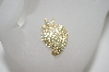 +MBA #6-1180   Vintage Clear Rhinestone Strawberry Pin