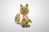 """SOLD""  MBA #6-1173   Panetta Gold Tone Fox Pin"