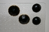 **MBA #6-1392   2 Pairs Vintage Black Stone Earrings