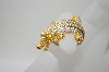 **MBA #6-1431  18K Vermeil White Zircon Crocodile Ring