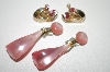 **MBA #6-1225  2 Pairs Vintage Pink Earrings