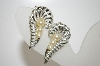 +MBA #6-0983  Vintage Silver Tone Faux Pearl Clip On Earrings