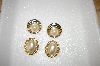 +MBA #6-0932  2 Pairs Vintage Gold Tone Faux Pearl Clip Style Earrings