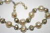 **MBA #6-1233   Vintage Faux Glass Pearl & Rhinestone Chocker
