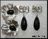 **MBA #6-1100   2 Pairs Vintage Silver Tone Earrings