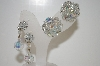 **MBA #6-1020  2 Pairs Vintage AB Crystal Earrings