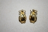 **MBA #6-1545  Joan Rivers Gold Tone Egg Pierced Earrings