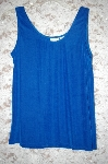 Designer White Stag Stretch Blue Tank
