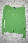 "**MBA #1954  "" Boston Proper Green Long Sleve Cotton Top"