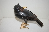 "+MBA #5-1589E  "" Unique Metal ""Turning"" Crow Figurine"