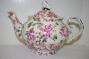 **MBA #5-1642D  Porcelain Scalloped Butterfly Teapot