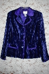"**MBA #5-1867   ""Linea By Louis Dell'Olio Crinkle Velvet Jacket With Satin Trim"