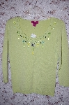 Designer L.A.C.E. Light Green Embelished Long Sleve Sweater