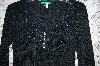 "Designer ""EveryDay"" Black Knit Embelished Long Sleve Sweater"