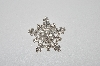 **MBA5 #1685A  Silver Plated Clear Rhinestone Snowflake Pin