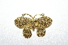 **MBA #5-1678  Gold Plated Rhinestone Butterfly Pin/Pendant