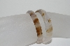 **MBA #1672  Set Of 2 Small Agate Bangle Bracelets