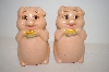 ** Pair Of Vintage Cute Pig Salt & Pepper Shakers
