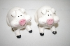 ** RGD 1984 White Pig Salt & Pepper Shakers