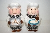 "** Pair Of ""Pig"" Chef Salt & Papper Shakers"