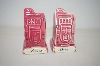 ** Vintage Pair Of Pink Reno Nevada Salt & Pepper Shakers