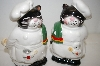 ** Vintage Cat Chef Salt & Pepper Shakers