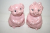 **1994 Pink Pig Salt & Pepper Shakers