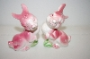 ** Vintage Pink Bunny Salt & Pepper Shakers