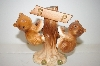 **Vintage Brown Bears On A Tree Salt & Pepper Shakers