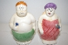 **  Bathing Man & Woman Salt & Pepper Shakers
