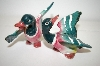 ** Vintage Green Ducks Salt & Pepper Shakers