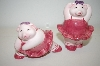 ** Pink Pig Balarina Salt & Pepper Shakers