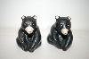 ** Vintage Black Bear Salt & Pepper Shakers