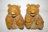 "** Vintage ""Carved Look"" Brown Bear Salt & Pepper Shakers"