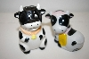 **  Black & White Cow Salt & Pepper Shakers