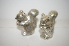 ** Vintage Metal Squirrel Salt & Pepper Shakers