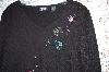 "MBA #33-197  ""Black ""Marissa Studio"" Hand Beaded Sweater"