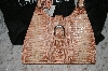 "**MBA #34-142   ""Rust Colored Charlie Lapson ""Valentia"" Hand Bag"
