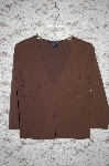 "**MBA #34-040  ""Brown Boston Proper V-Neck Stretch Top"
