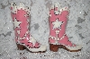 "** 2002  Pink Large ""Super Star"" Cowboy Boot Salt & Pepper Shakers"