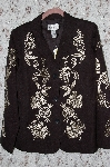 "**MBA #35-09  ""Black Victor Costa Rayon Embroidered Jacket"