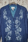 "**MBA #35-049  ""Blue Victor Costa Rayon Embroidered Jacket"