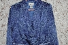 "**MBA #35-053  ""Blue Susan Graver Floral Jacquard Jacket With Ribbion Trim"