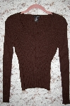 "MBA #35-033  ""Brown Dolce & Fabuloso  Long Sleve Knit Sweater"