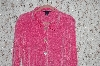 Pink Boston Proper Chenille Button Front Sweater
