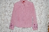 "MBA #35-067  ""Pink Look East Embroidered Suede Jacket"